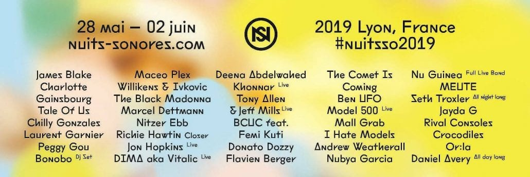 Nuits Sonores 2019, Programmation, Festival, Lyon