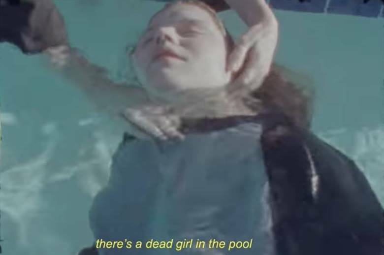 girl in red, dead girl in the pool, clip
